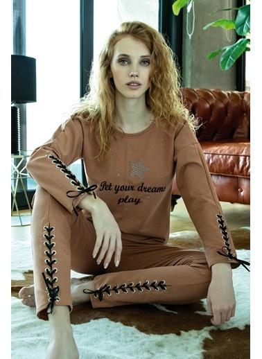 Anıl Pijama Takım Kahve